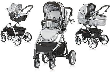 UP&DOWN CONVERTIBLE, carrito de bebés tres piezas (smoked pearl)