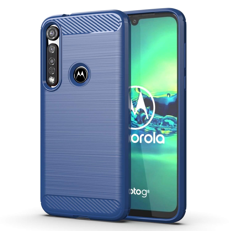 Funda Resistente Para Motorola G8 Plus, Azul