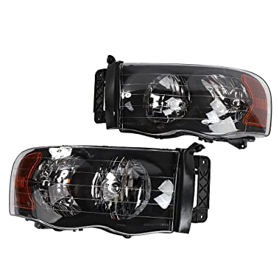 2PC Driver & Passenger Headlights Headlamps Set Replacement fit for Dodge 2002 2003 2004 2005 Ram 1500 & 2003-2005 Ram 2500 3500: Automotive