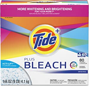 Tide Laundry Detergent with Bleach, Original Scent, Powder, 144oz Box (PGC84998)