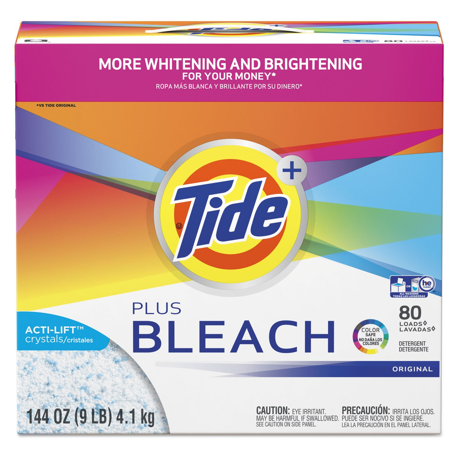 Tide with Bleach Alternative Original Scent Powder Laundry Detergent, 144 Ounce - 2 per case. by Tide
