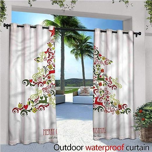 Cortina de privacidad para Exteriores de Navidad para pérgola y Dibujos Animados, muñeco de Nieve, Aislante térmico, Repelente al Agua, para balcón: Amazon.es: Jardín