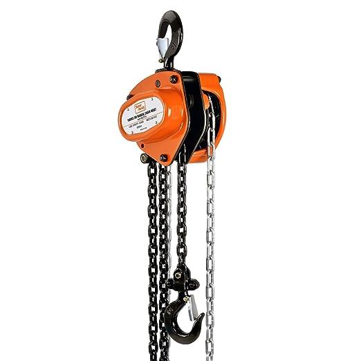 Chain Mode Manual Hand Lifting Chain Block Hoist 2 Pieces 1TON ...