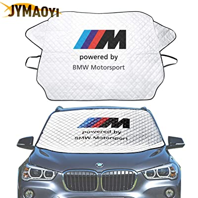 JYMAOYI for BMW Windshield Cover Car Snow Cover M Logo Windshield Visor Cover Front Window Protector Visor Ice Frost Defense Snow for 1 2 3 5 6 7 X M Series E81-93 E21-24 F01-04 F10-13 X1-7 etc: Automotive