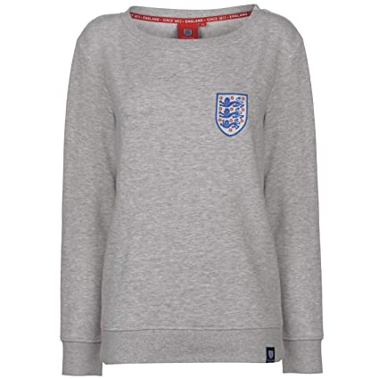 1ac231522d Abercrombie   Fitch FA England Crew Neck Sweatshirt Womens Grey Football  Soccer Sweater Pullover Top UK
