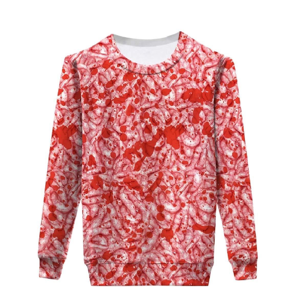 RingBong Womens Relaxed Long Sleeve Halloween Printing O-Neck Pullover Sweatshirt