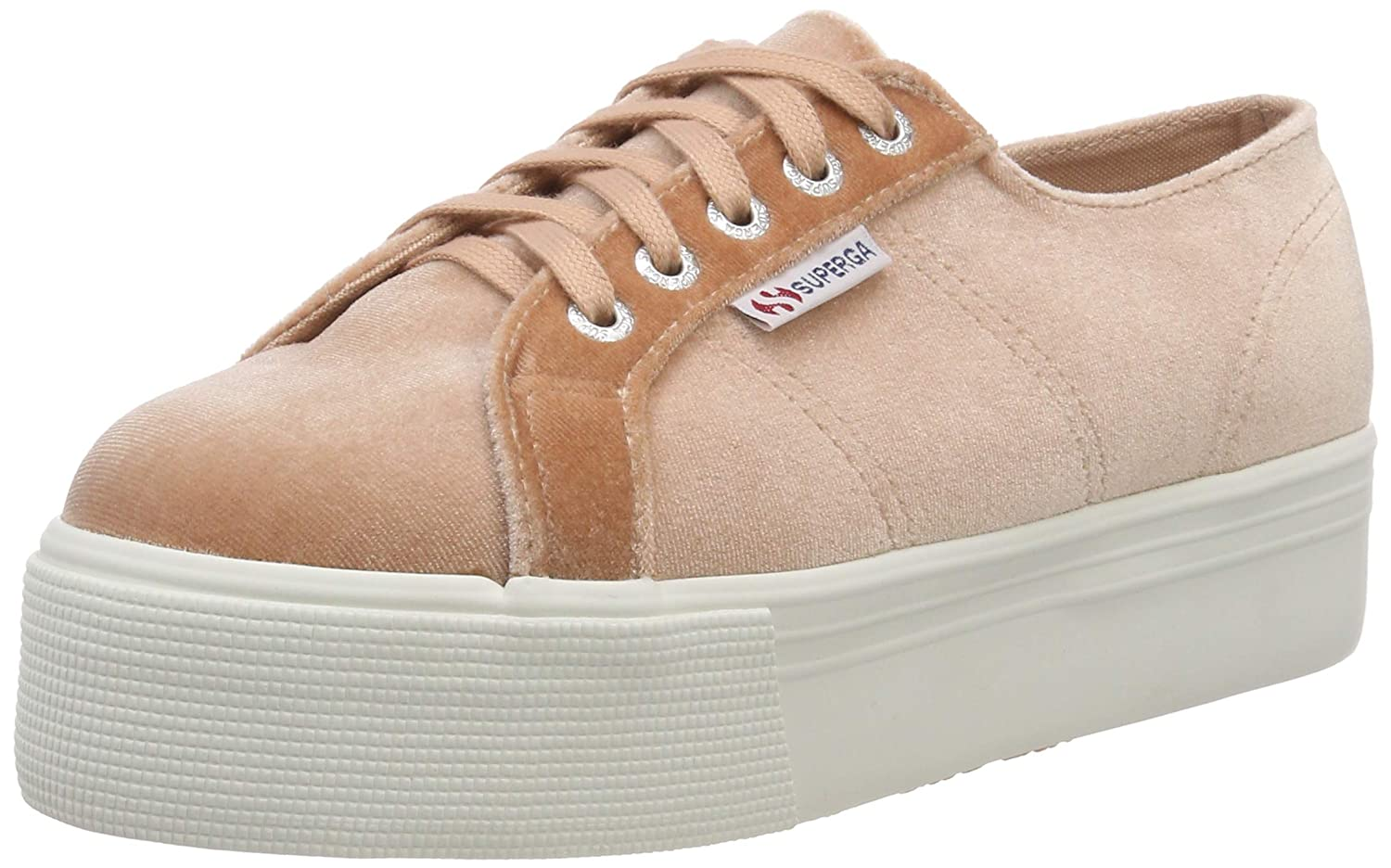 Superga Damen 2790-velvetchenillew Sneaker Pink Pink Pink (Pink Dusty Coral 918) e8714a