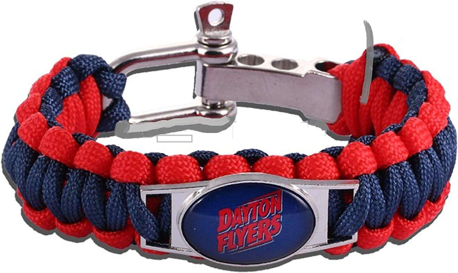 Swamp Fox Wisconsin Badgers Paracord Bracelet Adjustable with Insert Pin 7 to 9