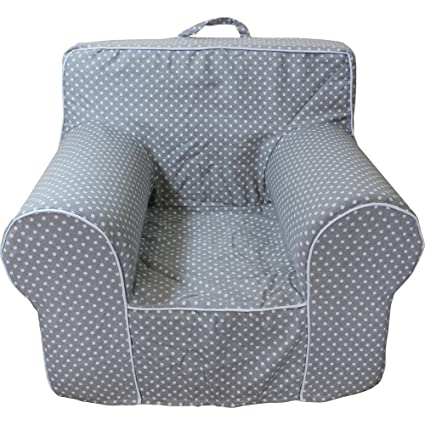 Elegant CUB CHAIRS Small Grey Microdot Chair Cover For Foam Childrenu0027s Chair