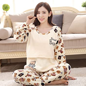 d742ba54ddb86 mjy Moon clothes, pregnant women pajamas, suits can be fed: Amazon ...