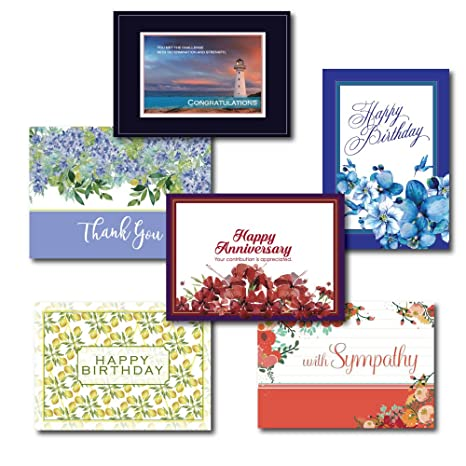 Amazon All Occasion Greeting Card Box Set Assortment 5 Each