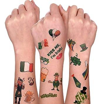 Pegatinas de tatuajes temporales para el día de San Patricio ...