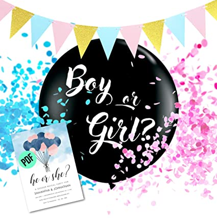 Amazoncom Gender Reveal Balloon With Confetti Gender Reveal