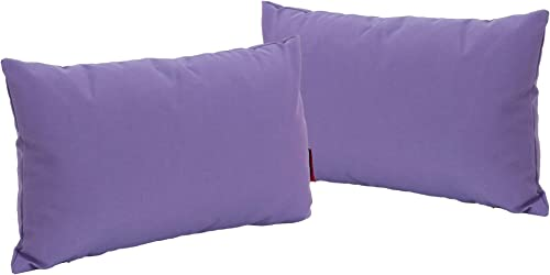 Christopher Knight Home Coronado Outdoor Water Resistant Rectangular Throw Pillows, 2-Pcs Set, Purple