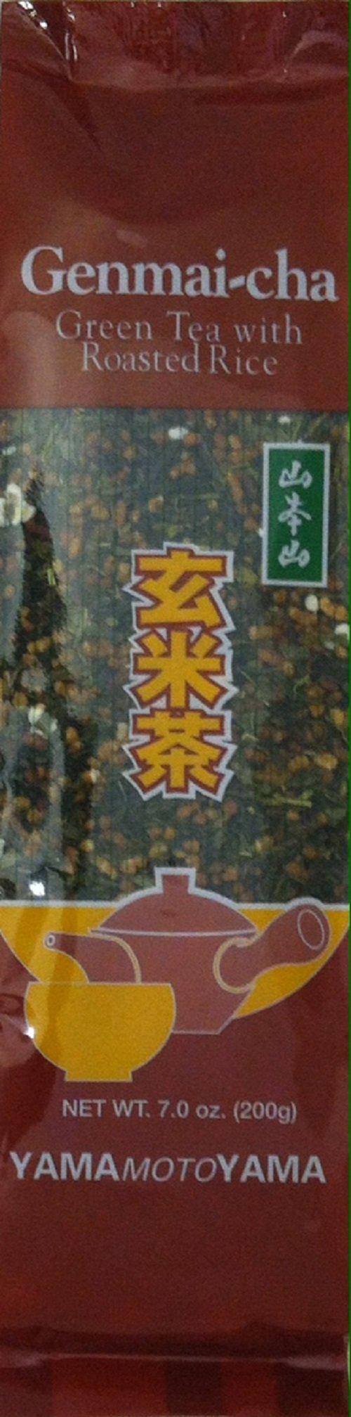 Yamamotoyama Loose Genmai-Cha Green Tea with Roasted Rice, 7.0-Ounce Bags (Pack of 6)