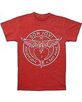 Bon Jovi Through The Heart Herren Slim T-Shirt