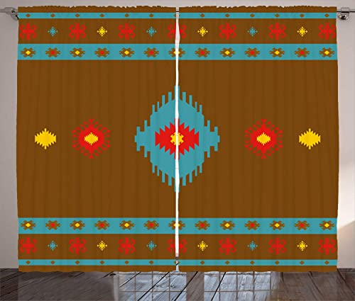 Ambesonne Tribal Curtains