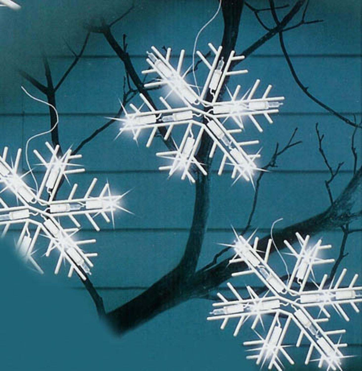 Amazon.com: Sienna Set of 10 Clear Lighted Twinkling Snowflake ...