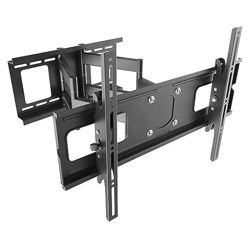 Ricoo R06 Soporte de pared inclinable para televisión de pantalla plana LCD LED y de plasma forma articulada de doble brazo De 80 a 177cm o 32 a 70 pulgadas VESA máx 600 x 400 distancia a la pared 117 mm inclinable y orientable