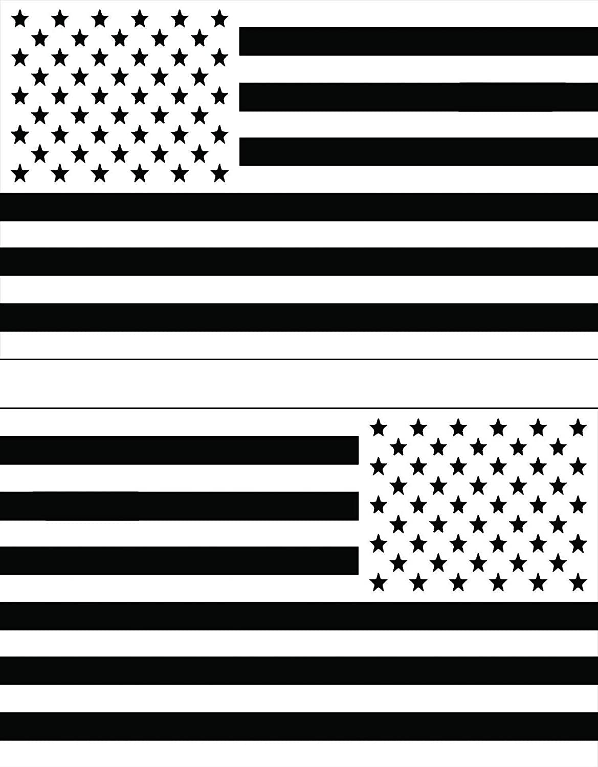 "OTA Sticker American Flag Thin White LINE Subdued (Left-Right) USA EMS Official Doctor Ranger Nurses Rock Medical Heavy Decal Laptop Car Window Door Wall Motorcycle Helmet Set Size 3"" x 5""inch"