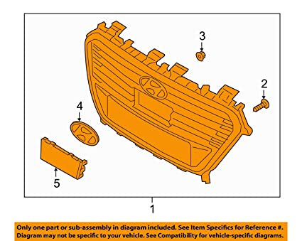 image unavailable  image not available for  color: hyundai oem 16-17 sonata  front bumper-grille assembly 86350e6100