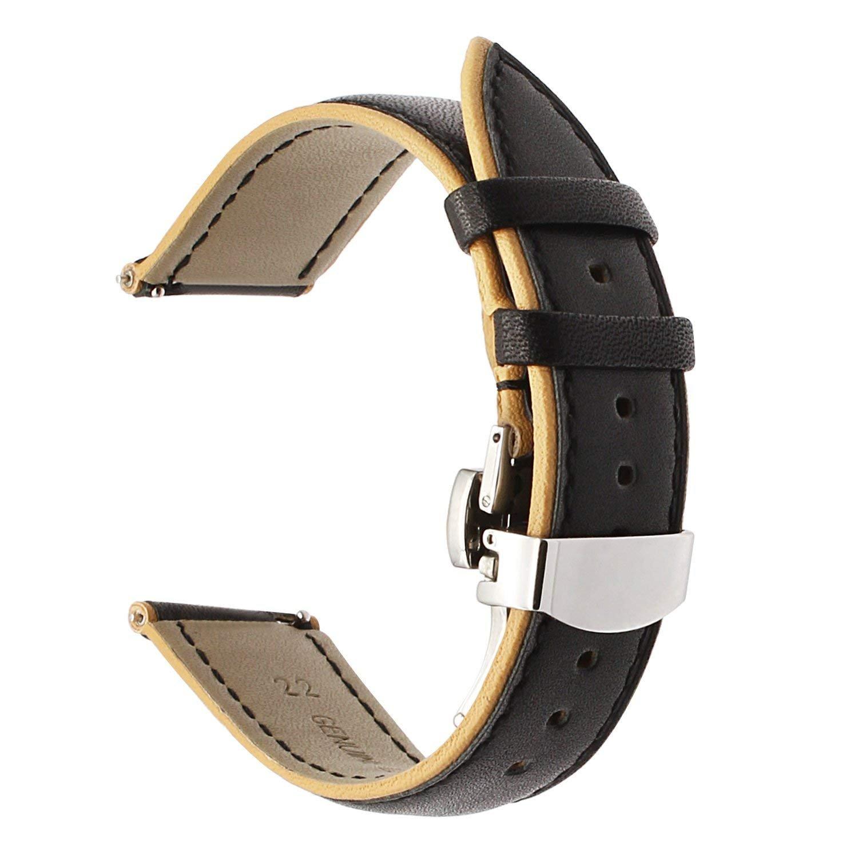 TRUMiRR para Samsung Gear S3 Frontier/Classic Banda de Reloj, 22mm Doble Banda de Cuero de Color Original Quick Release Correa de muñeca para Moto 360 2 ...