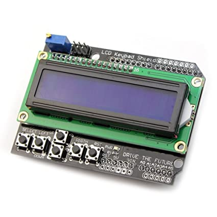 Amazon com : WINGONEER® LCD Keypad Shield LCD1602 LCD 1602 Module