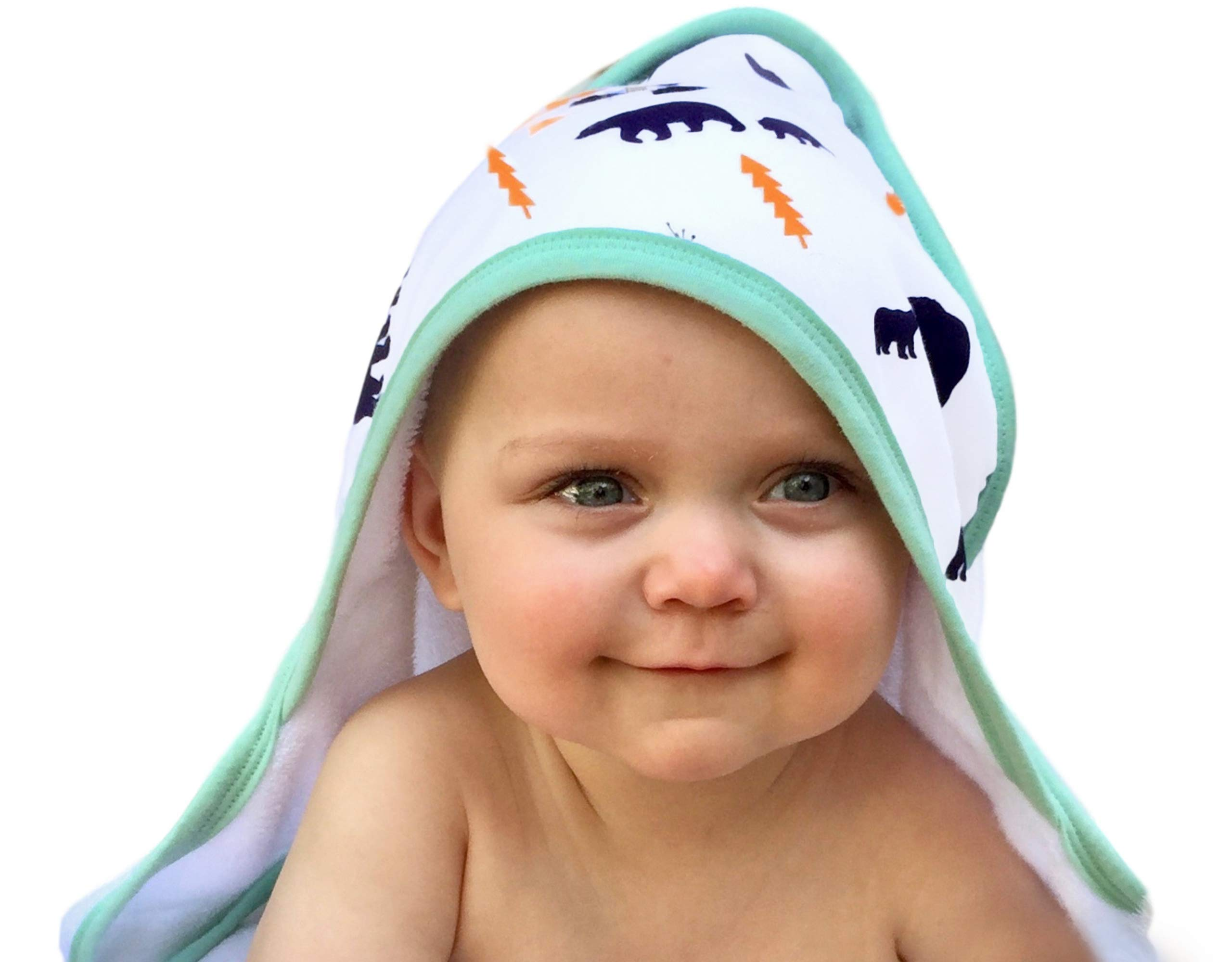 Baby Hooded Towel for Boys & Girls |Organic & Luxuriously Soft Bamboo |Plush & Highly Absorbent (500GSM) Thick Baby Bath Towel with Hood for Newborns Babies, Infants & Toddlers (Age 0 to 3) by Land of the Wee