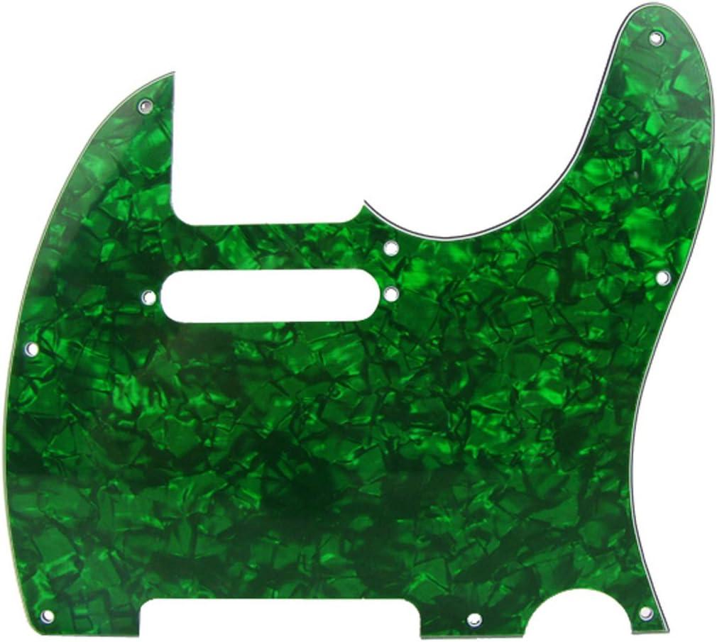 1 capa Silver Mirror Musiclily 8 Agujeros Tele Pickguard Golpeador para Fender American//M/éxico Standard Telecaster Estilo Moderno