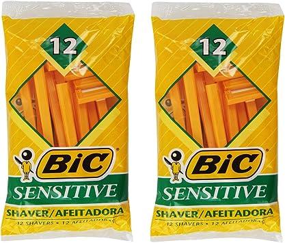 Paquete de 2 afeitadoras para piel sensible de una sola hoja Bic ...