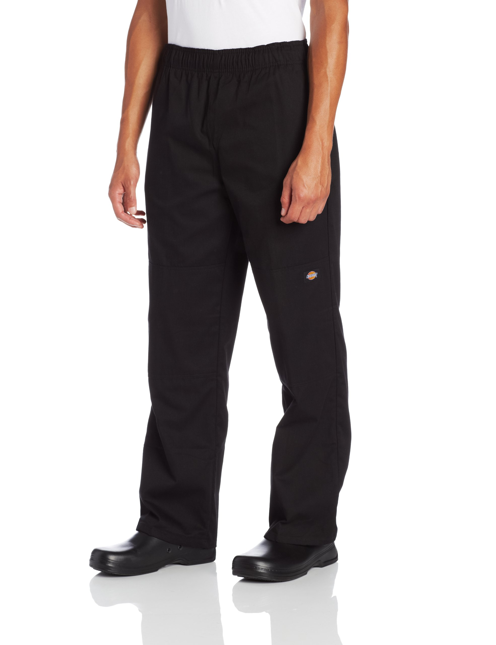 Dickies Men's Double Knee Baggy Chef Pant, Black, XX-Large