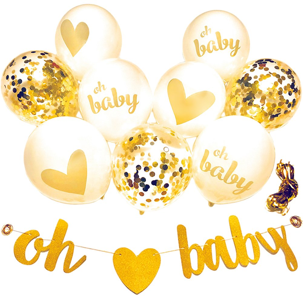 Amazon.com: Baby Shower Decorations Neutral Decor Strung Banner (OH ...