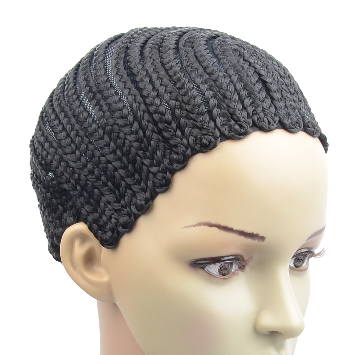 Razeal Clip in Cornrow Crochet Braided Wig Cap Adjustable Medium Size Crochet Wig Cap (U Part)