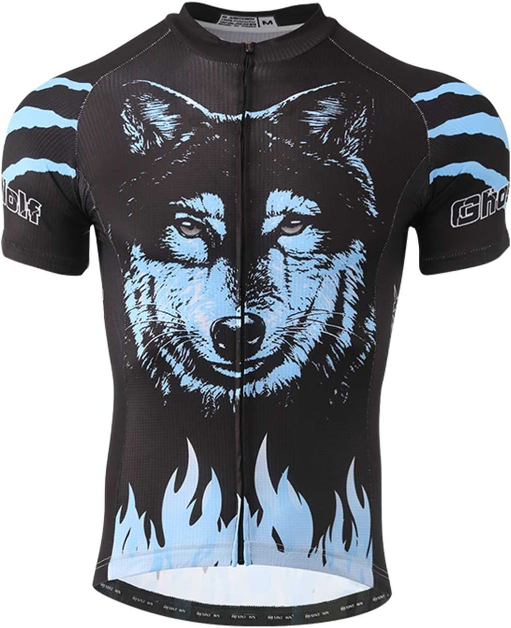 SXSHUN Maillots de Ciclismo para Hombres Camiseta de Manga Corta de Bicicleta Jersey para Verano Fresco Transpirable