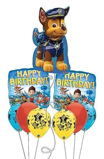Amazon.com: Paw Patrol Nick Jr Feliz cumpleaños globo Ramo ...