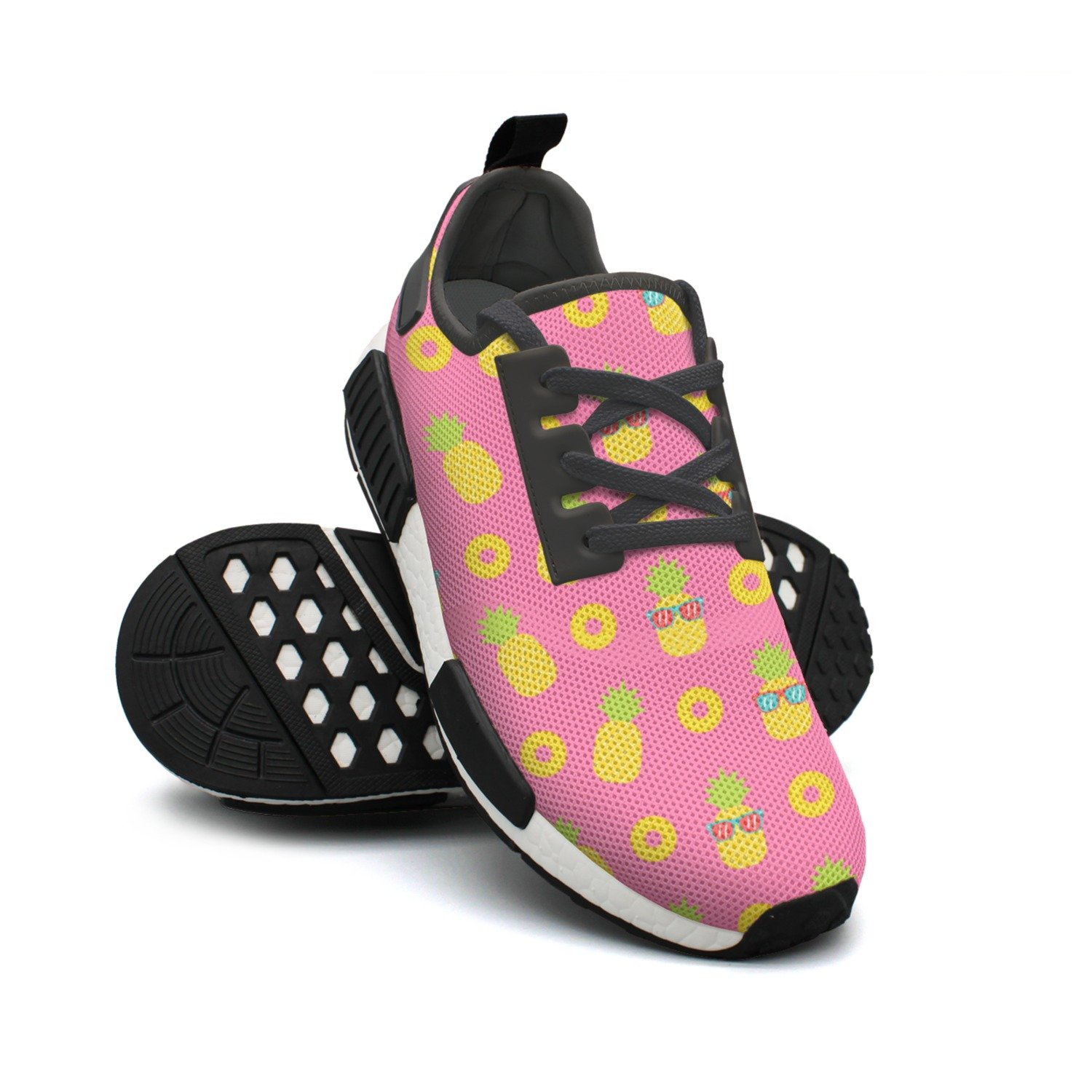 Cute Cool Cartoon Pineapple With Sunglasses Breathable Running Shoes Womens Nmd Gym Training Shoes