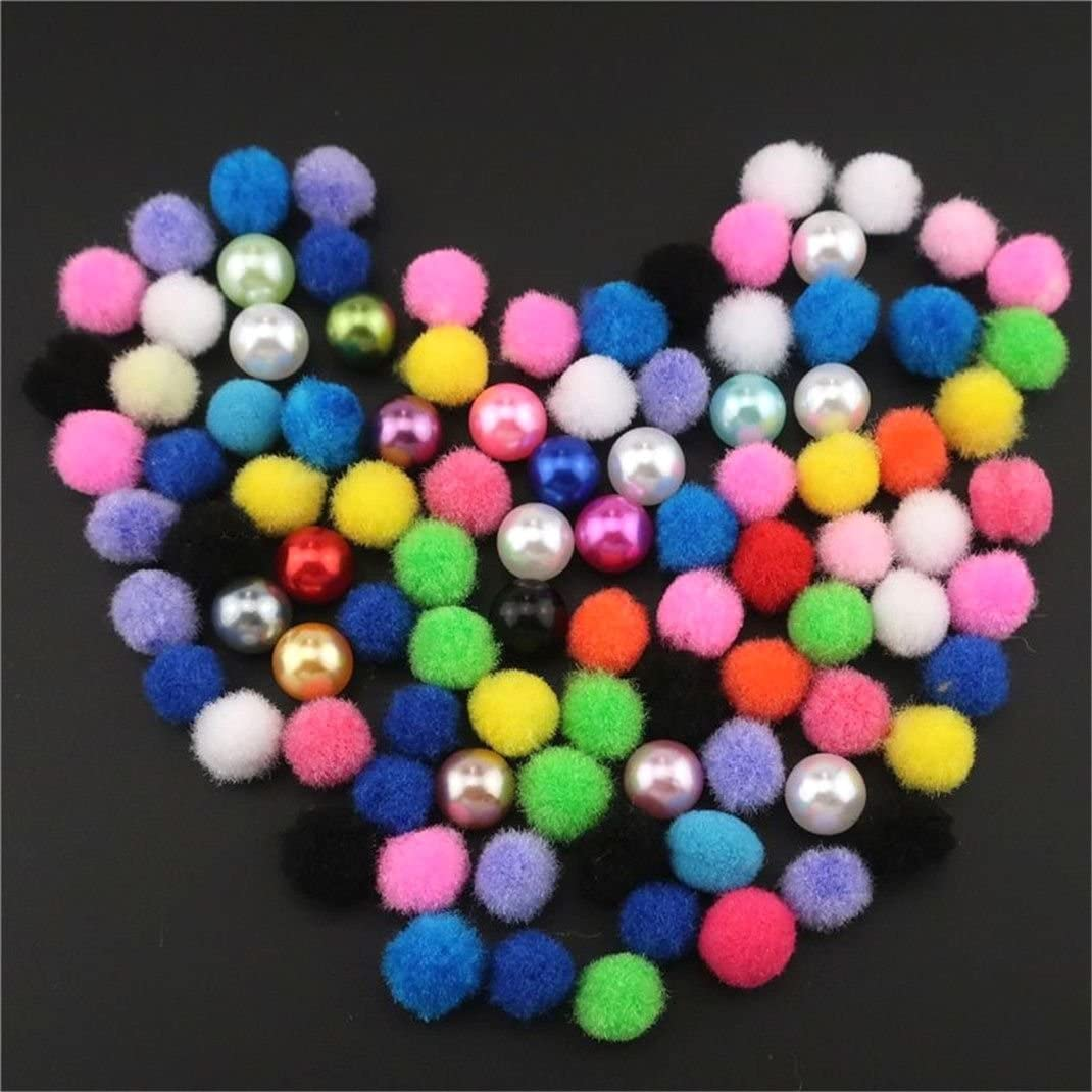 10 Pack Rainbow Color Donkey Pearl Beads Cage Locket Pendant Charms
