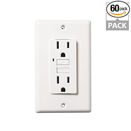 Faith 15 Amp Self Testing Gfci Outlet With Indicator Light Wall