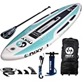 """NIXY Newport Paddle Board All Around Inflatable SUP 10'6"""" x 33"""" x 6"""" Ultra-Light Stand Up Paddleboard Built with Dual…"""