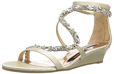 ea32559bd76d Badgley Mischka Women s Sierra Wedge Sandal  Buy Online at Low ...