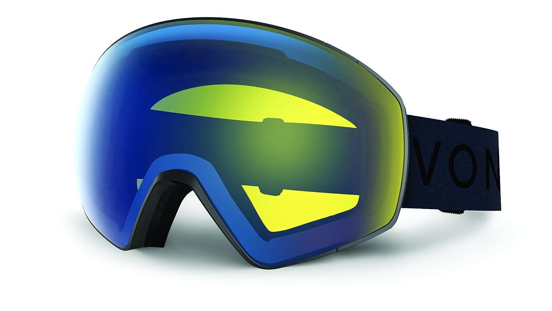Veezee Dba Von Zipper Jetpack Snow Goggle Black Satin//Black Chrome Inc Dba Von Zipper GMSNGJET