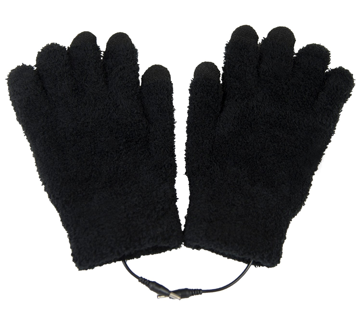 ObboMed MH-1025 Touchscreen USB 5V Composite Heating Element Warming Full Finger Stretchy Gloves–Connect to USB Port,PC,Laptop, Adapter for Power– can use on Cell Phone, iPad – 9''x5.9''