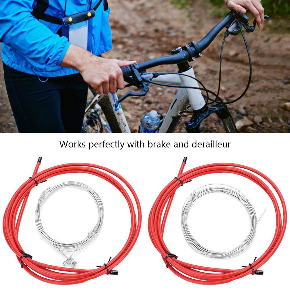 Cable de Cambio de Marcha Interior MTB Bicicleta de Monta/ña de Carretera L/ínea de Control de Cable de Frenos Kit de Accesorios de Repuesto de Ciclismo Tbest Cable de Freno de Bicicleta Kit