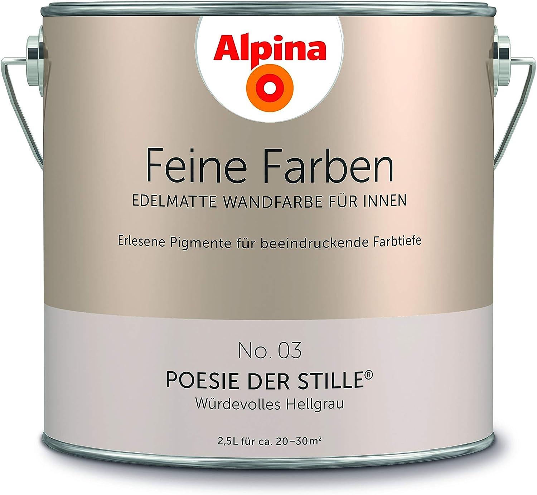 Alpina Feine Farben 2 5l Farbwahl Edelmatte Wandfarbe Fur Innen No 3 Poesie Der Stille Amazon De Baumarkt