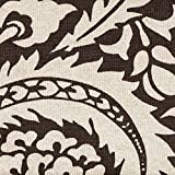 Lisbon Fossil Brown Floral Tailored Valance Lined Cotton For Sale