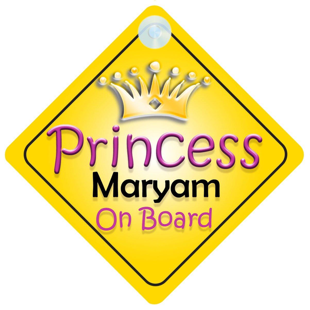 Crown Princess Maryam On Board Personalised Baby Girl Car Sign