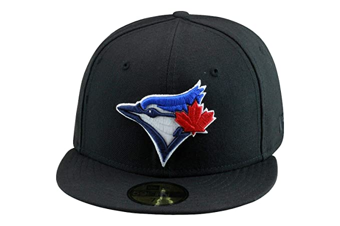 brand new 6d8c3 74b63 New Era 59fifty Toronto Blue Jays Fitted Hat Cap Black at ...