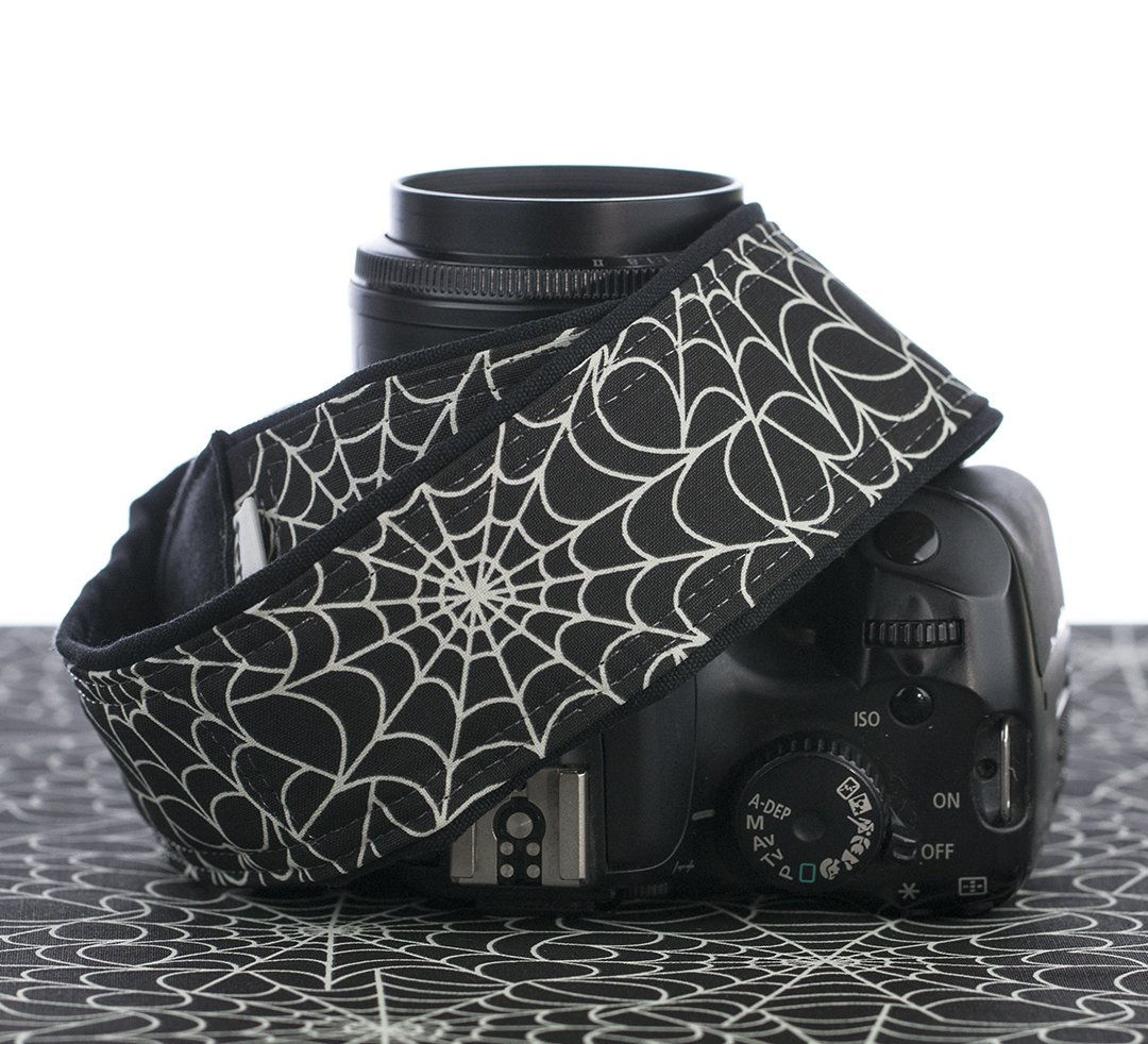 Camera Strap Spider Web Glow in the Dark Fits DSLR, SLR, Mirrorless