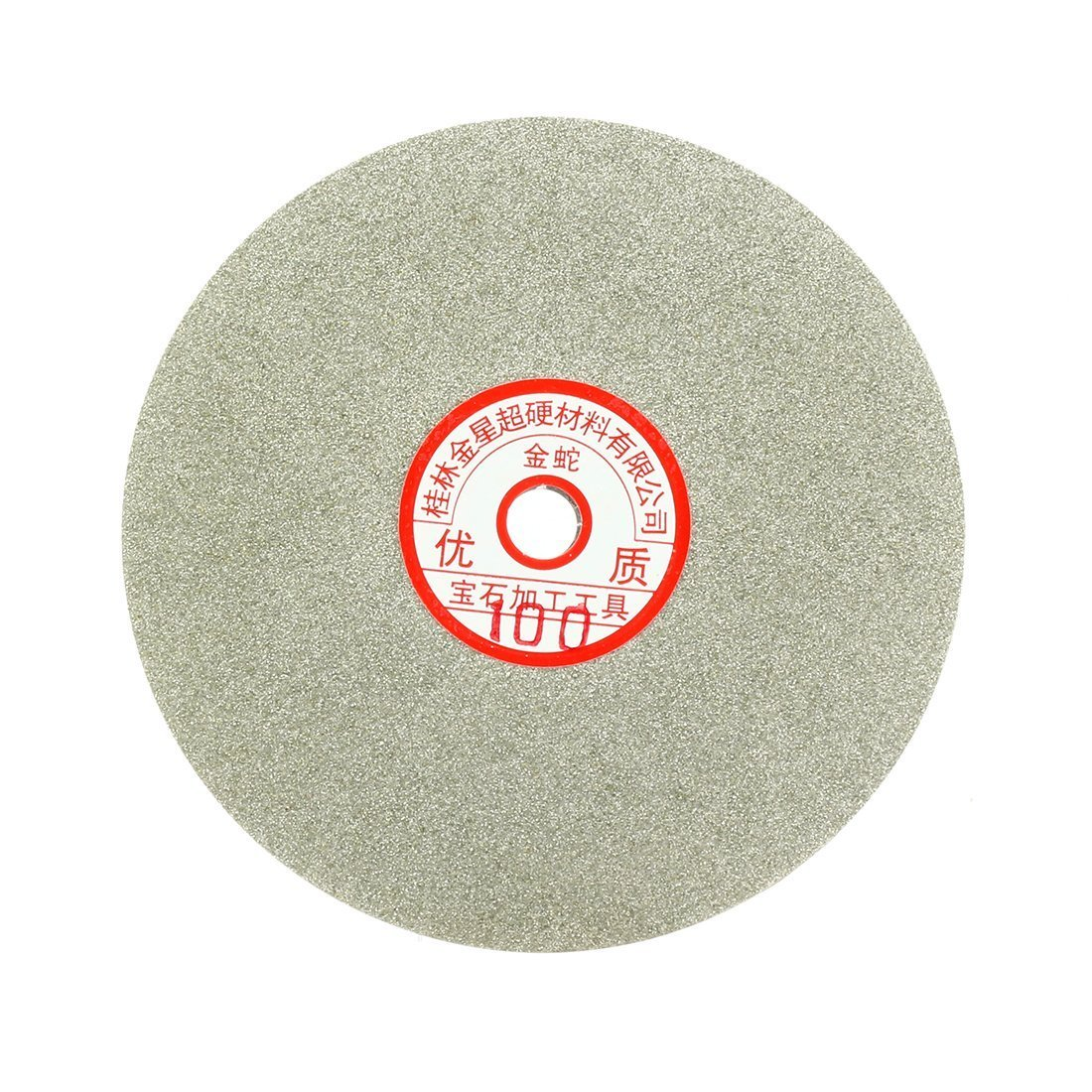 Sourcingmap 6-inch Grit 100 Diamond Coated Flat Lap Wheel Grinding Sanding Polishing Disc a17030900ux1360