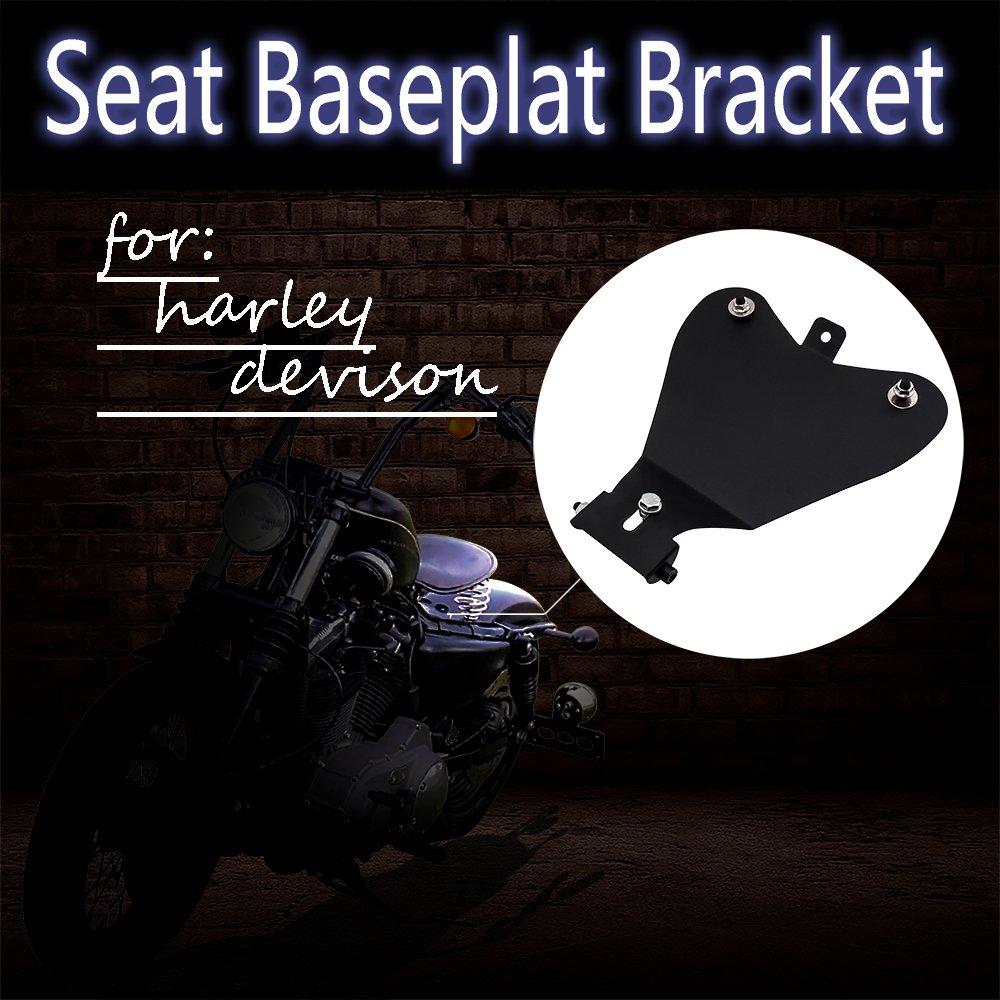 Senkauto Leather Solo Seat Base Pan Spring Mounting Bracket for Harley Sportster XL 1200 883 48 Chopper Bobber Seats Custom